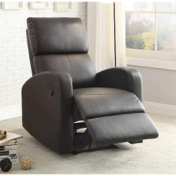 Reclining Armchair With Reverse Sloped Arms, Dark Brown
