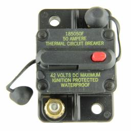 Bussmann CB185-50 CB185 Series Automotive Circuit Breaker (Plug In Mounting, 50 Amps, Blade Terminal Connection)