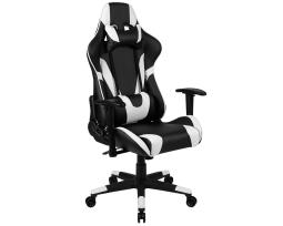 Offex X20 Gaming Chair Racing Office Ergonomic Computer PC Adjustable Swivel Chair with Fully Reclining Back in Black LeatherSoft