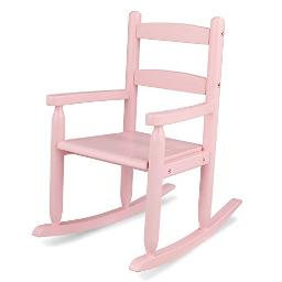KidKraft Wooden Classic Children's Rocking Chair - Pink, Gift for Ages 3+