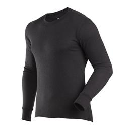 ColdPruf Men's Basic Dual Layer Long Sleeve Crew Neck Base Layer Top, Black, Large