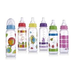 Nuby Printed Non-Drip Bottle, 8 Ounce, Colors May Vary