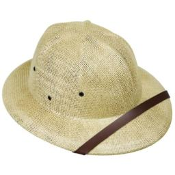 Adult's Beige Safari Pith Helmet Costume Hat