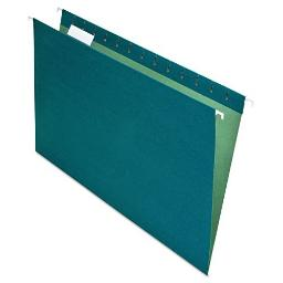 Pendaflex Earthwise 100% Recycled Hanging File Folders, 1/5 Cut, Legal Size, Blue, 25 per Box (76502)