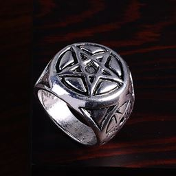 Punk Vintage Trend Men's Ring Gothic Men Skull Flower Biker Zinc Alloy Ring - 9, sa1072