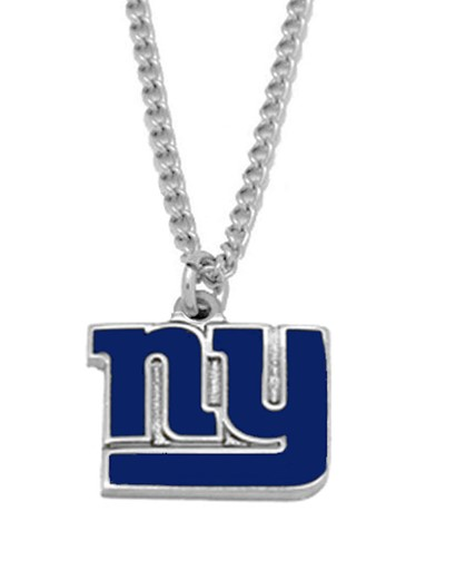 Sports Team Logo NFL New York Giants Logo Necklace Charm Pendant