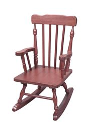 Gift Mark Childs Spindle Rocking Chair -Cherry