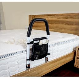 Bed Rails for Elderly - Hospital Grade Safety Bed Rail for Adults Seniors, Bed Side Handrail, Senior Adult Handrail for King Queen Twin Size Bed, Handicap Bed Assist Rail ,New Adjustable Height TOP Rail Accommodates Thick MATTRESSES and MATTRESSES with To