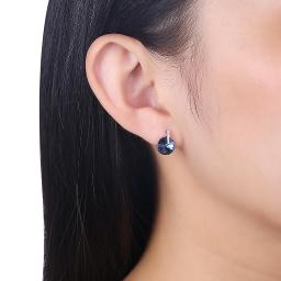 Sterling Silver Earring with Swarovski Crystals