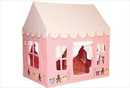 Small Gingerbread Cottage 100 Cotton Embroidered And Appliqued Playhouse