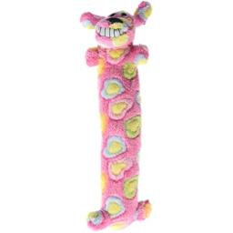 """Loofa Dog Breast Cancer Research 12"""" Medium Plush Patterned Dog Toy with Squeaker by Multipet"""