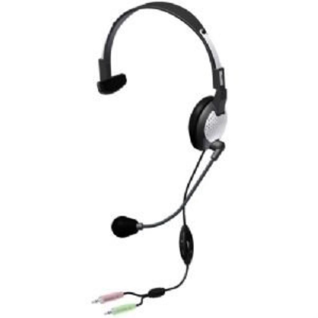 Andrea C1-1022200-1 Model NC-181 VM High Fidelity On-Ear Monaural PC Headset, Proprietary Noise-canceling Microphone with Windsock, Pro-Flex Wire Microphone Boom, 40 mW Max. Input Power