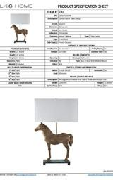 Artistic Dimond Lighting Carved Horse Table Lamp