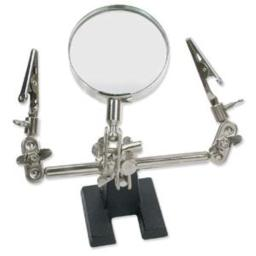 Beadsmith 3HAND04 Third Hand W/Alligator Clips & Magnifier, Silver
