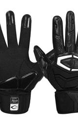 Cutters Lineman Padded Football Glove. Force 3.0 Extreme Grip Football Glove, Flexible Padded Palms & Back of Hand, Adult, 1 Pair, XX-Large, Force 3.0 (NEW), BLACK