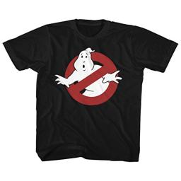 American Classics The Real Ghostbusters Animated TV Series Logo Toddler Little Boys T-Shirt Tee, Black, 4T