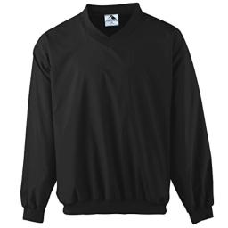 Augusta Sportswear Micro Poly Windshirt/Lined, Small, Black