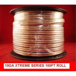 10ga - 100ft 10 ga Caliber Xtreme 10 Gauge Speaker Wire Audio Cable Car / Home Installatiolation Wire