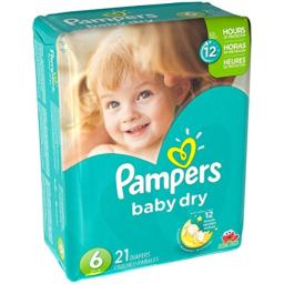 Pampers Baby Dry Diapers - Size 6 - 21 ct