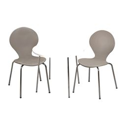Gift Mark Modern Childrens Table and 2 Chair Set with Chrome Legs (Grey Color Chairs)