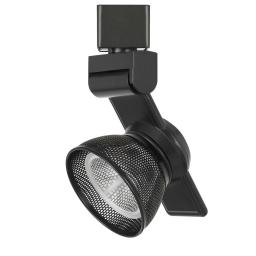 12W Integrated LED Metal Track Fixture with Mesh Head, Black