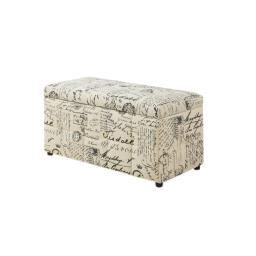 """Offex OFX-403584-MO Ottoman 38""""L Storage - Vintage French Fabric"""