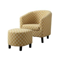 "Offex OFX-410108-MO 2 Piece Accent Chair Set - Burnt Yellow "" Circular """