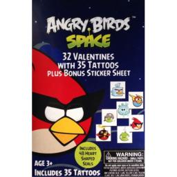Angry Birds Valentines with 35 Tattoos and Bonus Sticker Sheet