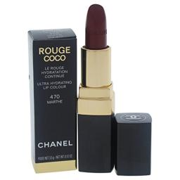 Chanel Rouge Coco Ultra Hydrating Lip Color for Women, 470 Marthe, 0.12 Ounce