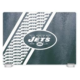 NFL New York Jets Tempered Glass Cutting Board with Display Stand