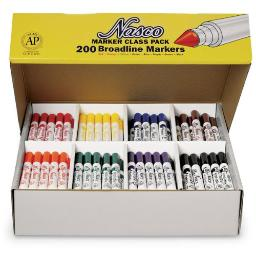 Nasco Country School 200 Piece Washable Broad Tip Markers Set