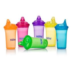 Nuby No-Spill Cup with Dual-Flo Valve, Sippy Cup for Baby and Toddler, 9 Ounce, Colors May Vary
