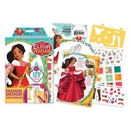 Make It Real – Disney Elena of Avalor Sketchbook. Disney Inspired Fashion Design Coloring Book for Girls. Includes Elena of Avalor Sketch Pages, Stencils, Stickers, and Design Guide