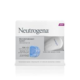 Neutrogena Microdermabrasion Starter Kit - At home microdermabrasion machine - Skin Exfoliator with Glycerin - Skin Firming, Pore Minimizer, Age Spot Remover- 1 month supply, 1 ct