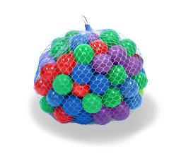 Upper Bounce Crush Proof Plastic Trampoline Pit Balls 100 Pack - Mixed Colors