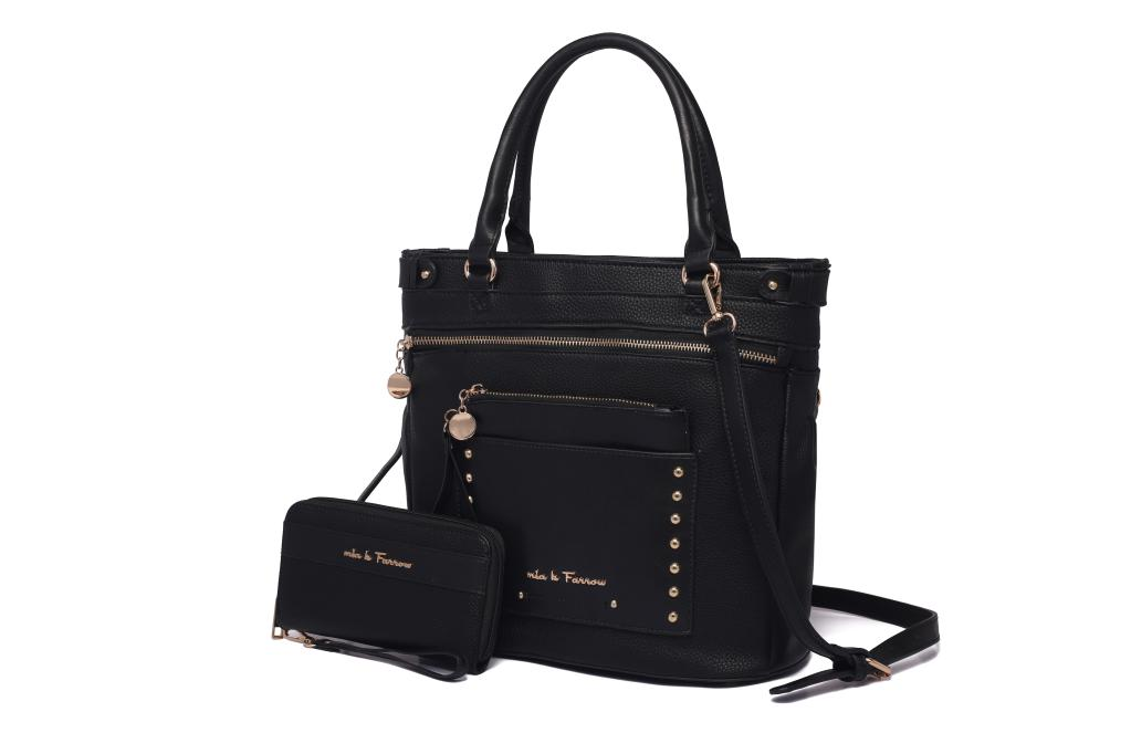 MKF Collection Cabell Tote with Wristlet Pouch & Wallet by Mia K. Farrow