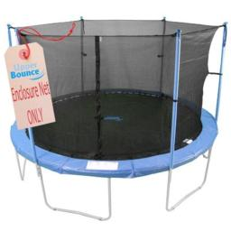 15' Round Trampoline Net Using 6 Poles or 3 Arches