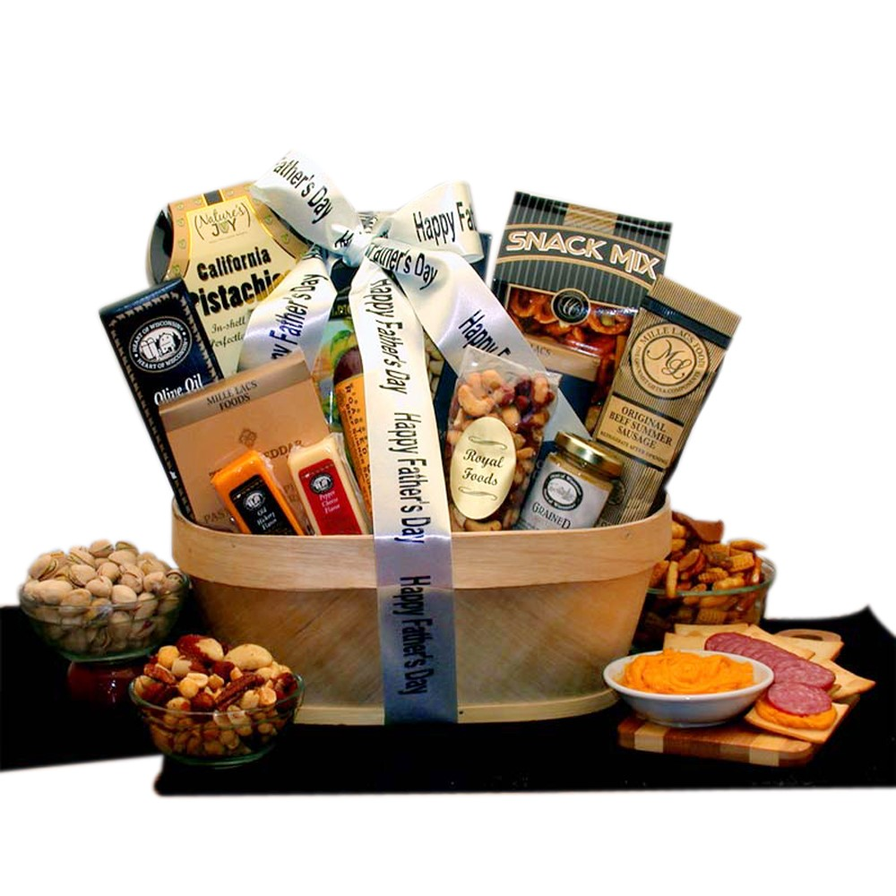 Gift Basket Father's Day Gourmet Nut and Sausage Assortment