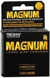 Trojan Magnum Condoms Large Lubricated Latex - 3 ct CH64203