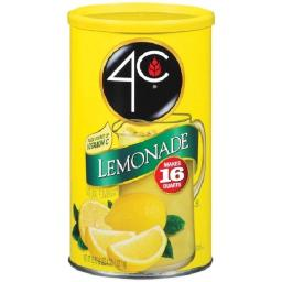 4C Lemonade Drink Mix 36 oz Canister