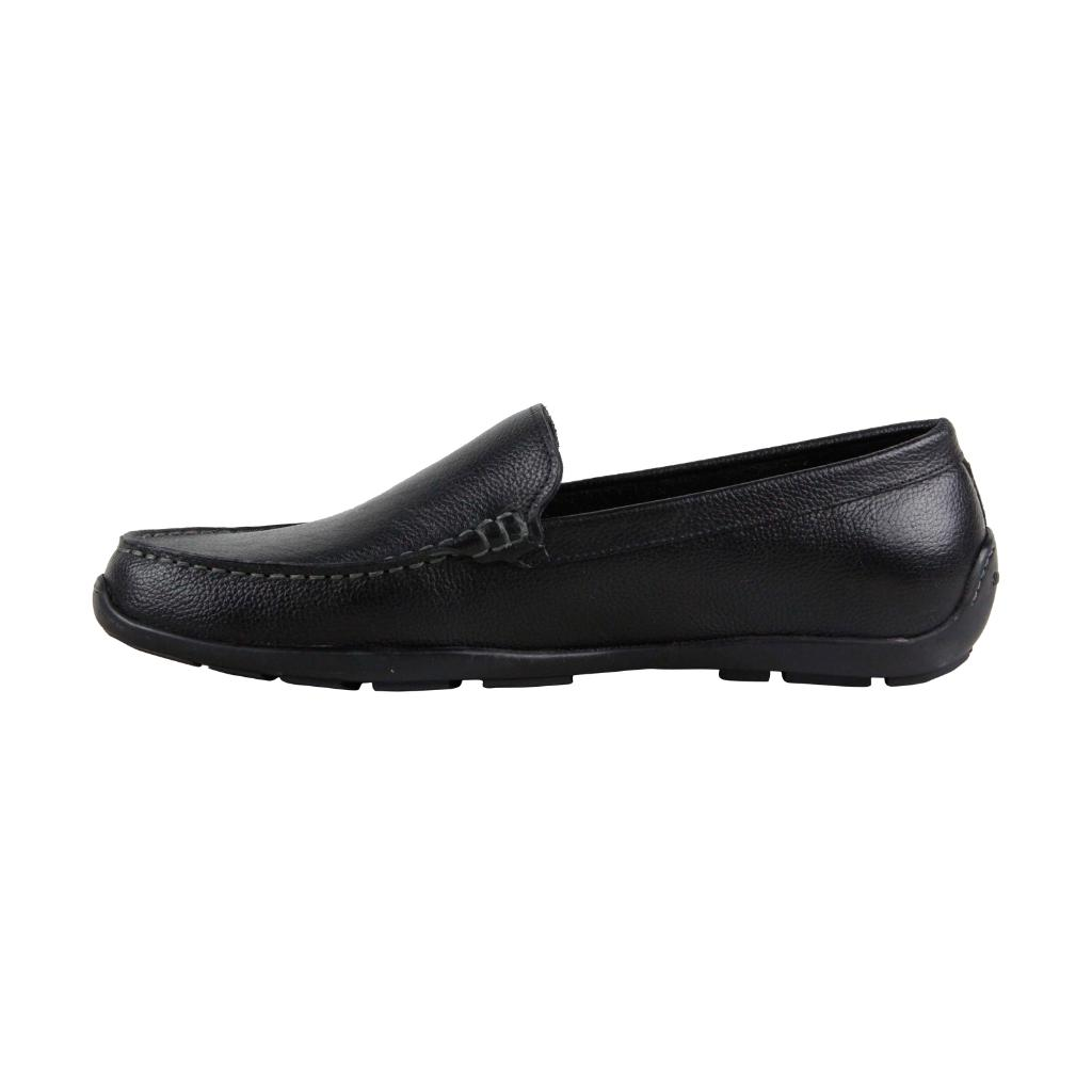 eb5f8831e33 Tommy Bahama Tommy Bahama Acanto Mens Black Leather Casual Dress Slip On Loafers  Shoes