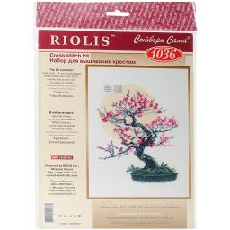 "Bonsai Of Sakura Wish Of Well Being Counted Cross Stitch Kit 13.75""X17.75"" 14 Count"