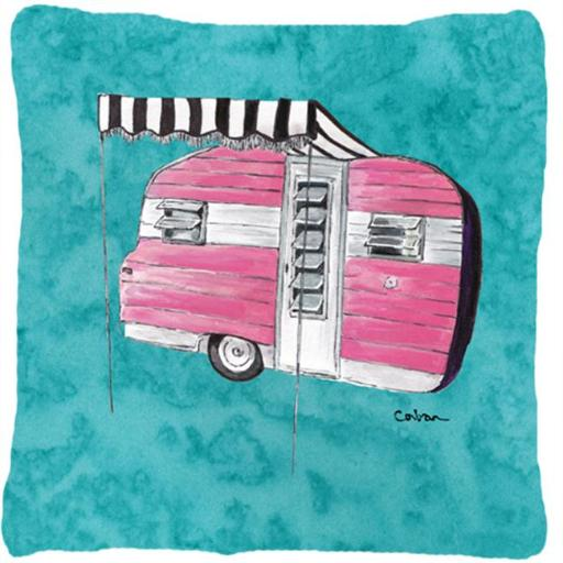 Carolines Treasures 8764PW1414 Welcome To The Trailer Indoor & Outdoor Fabric Decorative Pillow