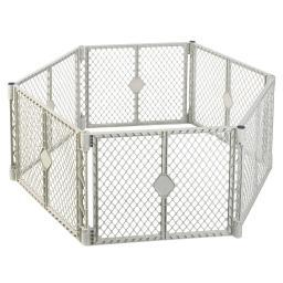 North States 8669 White North States Pet Superyard Xt Gate 6 Panels White 30 X 26