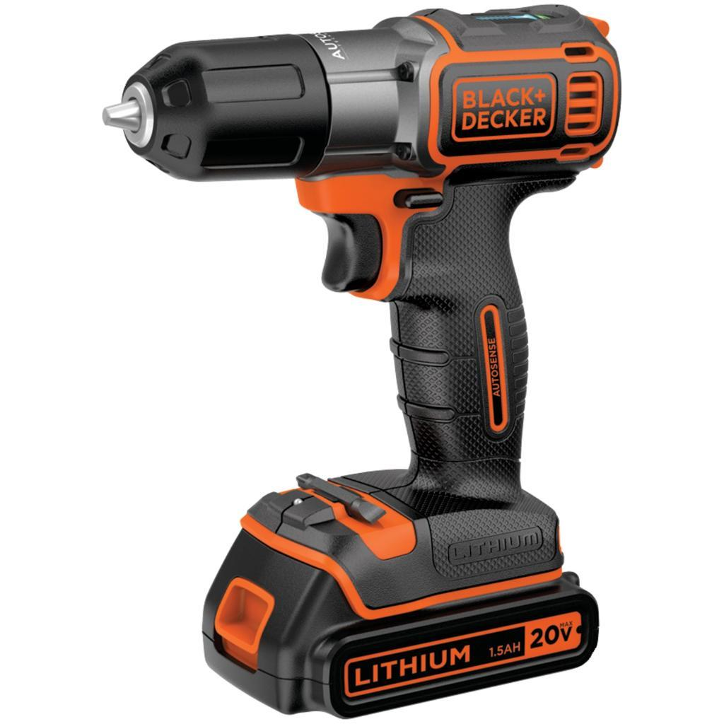 Black & Decker Bdcde120C 20-Volt Max* Lithium Drill/Driver With Autosense(Tm) Technology