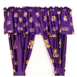 College Covers LSUCP84 LSU Printed Curtain Panels 42 in. X 84 in. LSUCP84
