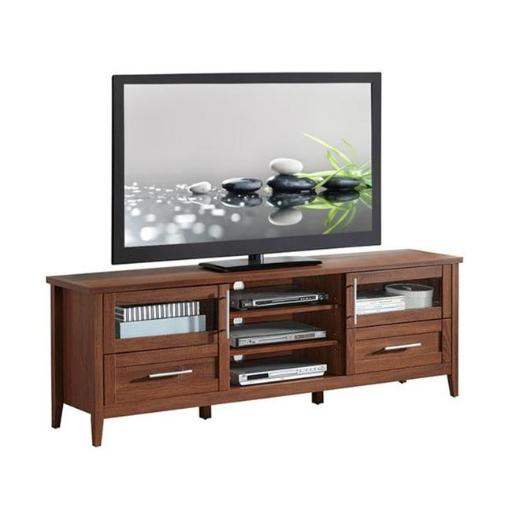 Techni Mobili RTA-8818-OAK Modern TV Stand with Storage, Oak - Up to 75 in.