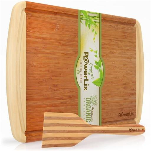 Home Basics CB44975 8 x 12 in. Bamboo Cutting Board with Drip Groove