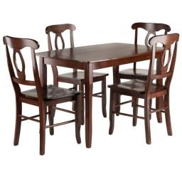 Winsome Wood 94547 Inglewood Dining Table Set with 4 Key Hole Back Chairs - 5 Piece
