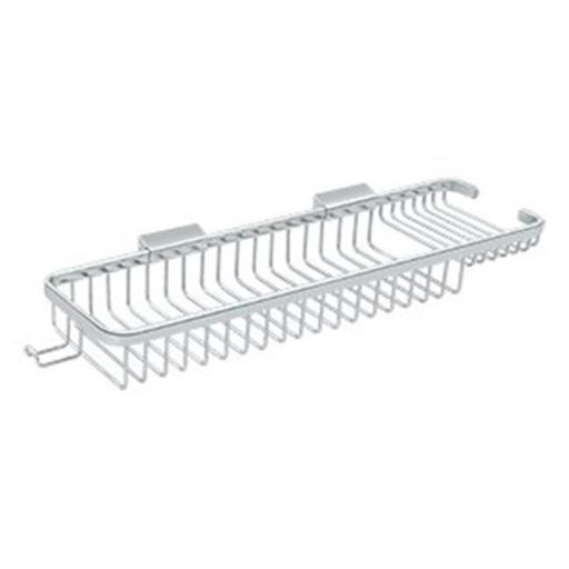 Deltana WBR1850HU26 Rectangular Combination Wire Basket with Hook, Polished Chrome